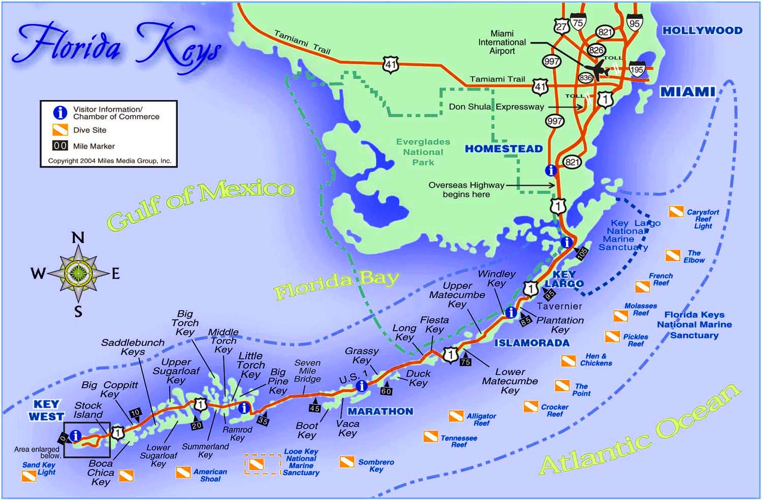 Best Florida Keys Beaches Map