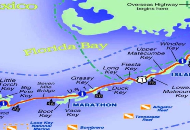 Detailed Map Of Florida Keys.Florida Keys Map Florida Keys Discounts Couponsflorida Keys